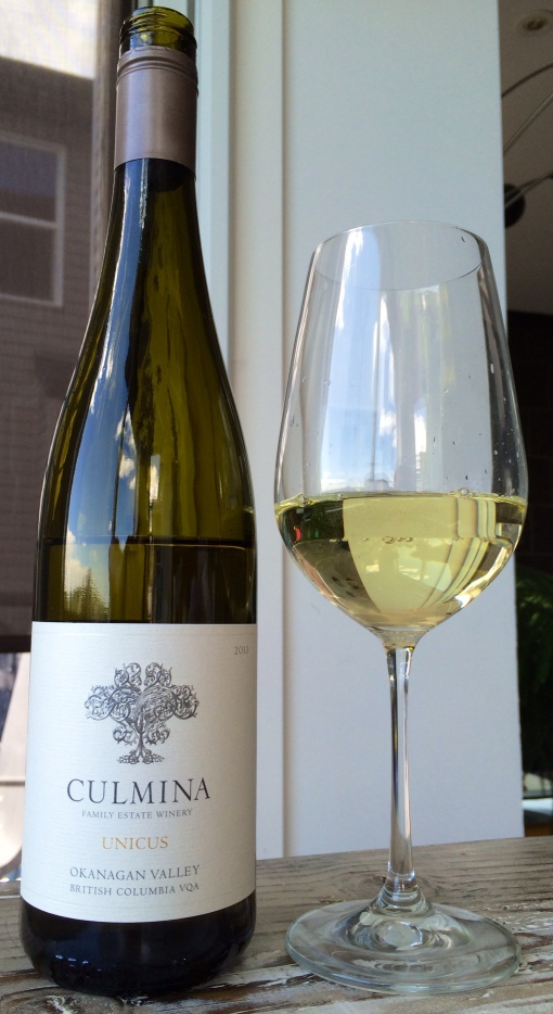 There it is:  history in a (classically presented) bottle.  BC Gruner!!