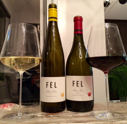 Great wines, plus new wine glasses - to be the subject of a separate post.