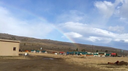 Downtown Babb, Montana.  At the end of the rainbow.