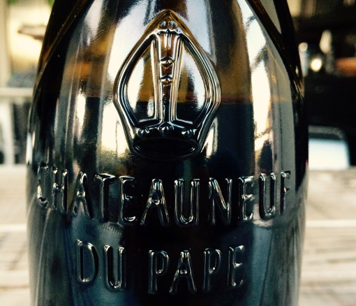 Remember I said there was an awesome embossed Pope Hat on the bottle?