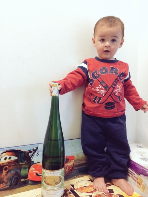 Max at 16 months, with his birth year mag, October 2014.