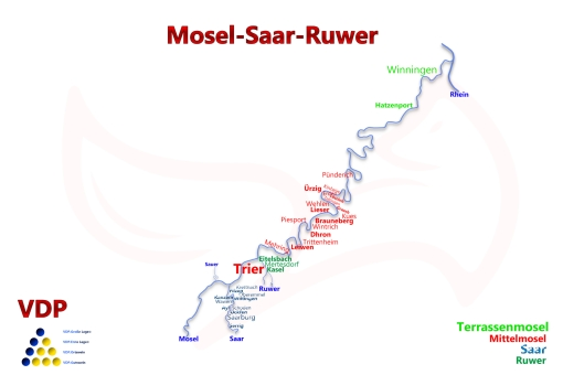 Mosel Saar Ruwer Map